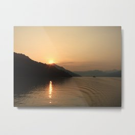 Yangtze River Sunset Metal Print