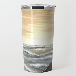 Ocean cliffs Travel Mug