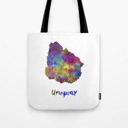 Uruguay in watercolor Tote Bag