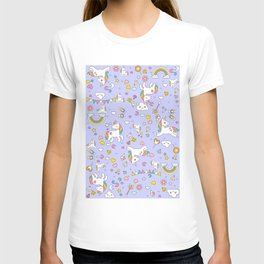 Unicorn Lilac Pattern T-shirt