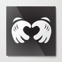 Mickey Mouse Love Metal Print