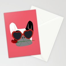 Valentines Bulldog Stationery Cards