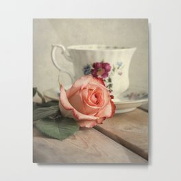 Have a cup of tea, please Metal Print