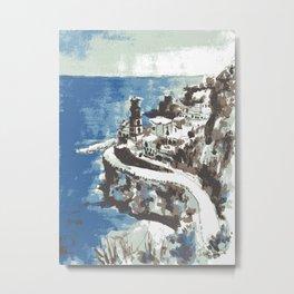 Amalfi Coast Italy Metal Print
