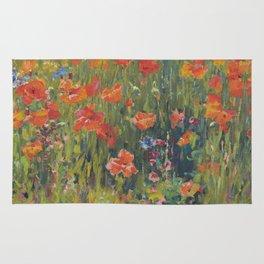 Robert Vonnoh - Poppies Rug