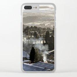 Farmland Fire Clear iPhone Case