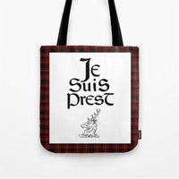 outlander Tote Bags featuring Je Suis Prest by Skart87
