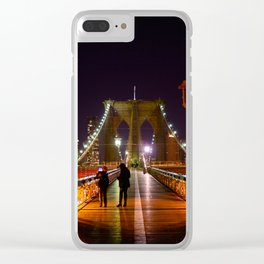 Brooklyn Bridge at Night Clear iPhone Case