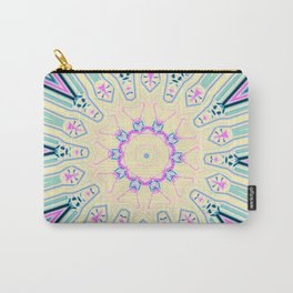 Abstract Paradise - Blue Pinwheel Carry-All Pouch