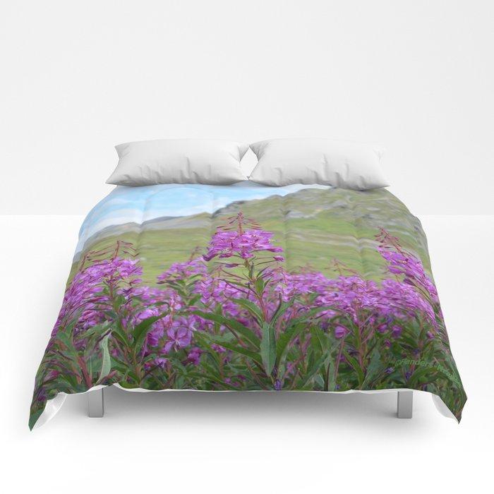 Hatcher Pass Fireweed Comforters