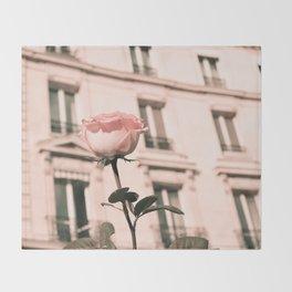 Paris in Blush Pink II Throw Blanket