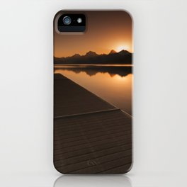 Lake McDonald Wake Up Call iPhone Case