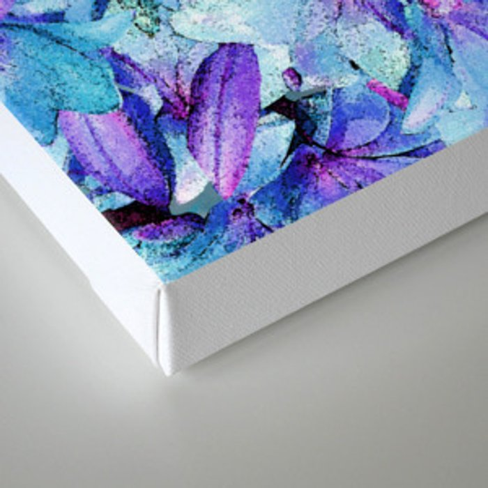 LILY BOUNTIFUL BLUE Canvas Print
