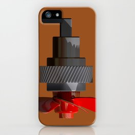 Propeller with gear iPhone Case