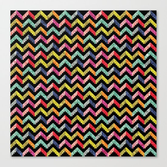Chevron Multi Color Zigzag Pattern II Canvas Print