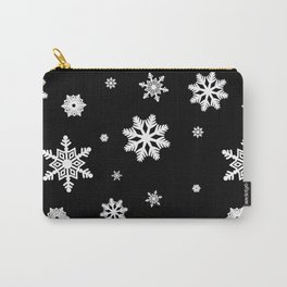 Snowflakes | Black & White Carry-All Pouch