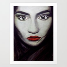 Masked Emotions Art Print