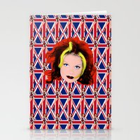spice girls Stationery Cards featuring Spice World - Geri Ginger Spice by Binge Designs Homeware