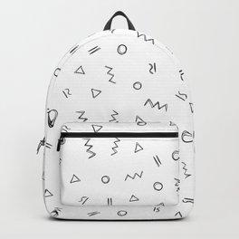 Geometric print pattern - Celin white Backpack
