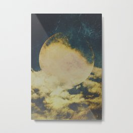 Golden moon Metal Print