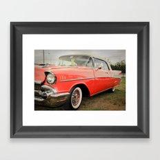 1957 Chevrolet Bel Air Convertible Framed Art Print