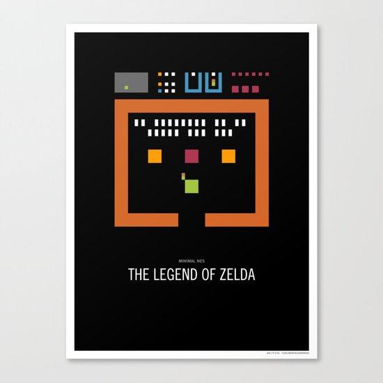 Minimal NES - The Legend of Zelda Canvas Print