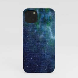 Abstract Colorful Denim Texture V1 iPhone Case