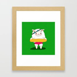Let's Go To A Pool (Lambie) Framed Art Print