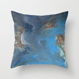 """François Boucher """"St. Peter Invited to Walk on the Water"""" (detail) Throw Pillow"""