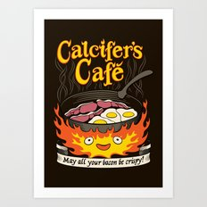 Calcifer's Cafe Art Print