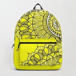 Yellow Sunshine Bohemian Mandala Backpack