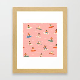 Surf kids Framed Art Print