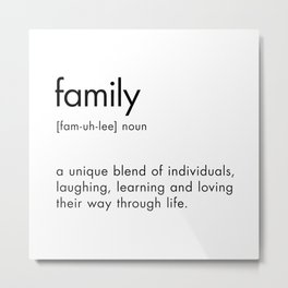 Family Definition Metal Print