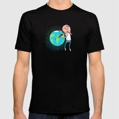 Earth Mother Black Mens Fitted Tee MEDIUM