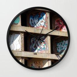 Cocrete Graffiti Wall Clock