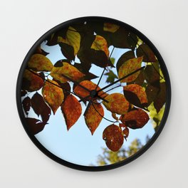 fall leaves 2 Wall Clock