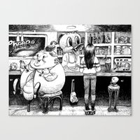 cheese Canvas Prints featuring Cheese. by Samuel Guerrero