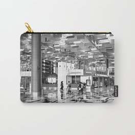 Industrial Urban Airport With Contemporary Geometric Patterns Carry-All Pouch
