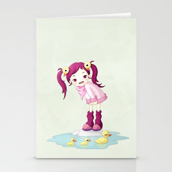 Puddle Ducks Stationery Cards