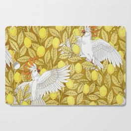 Vintage Pattern, Lemons and Birds, 1897 Cutting Board