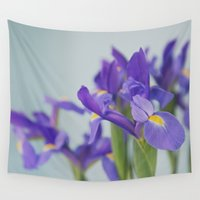 iris Wall Tapestries featuring iris by shannonblue
