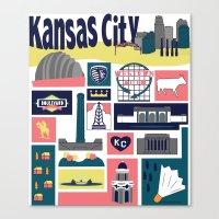 kansas city Canvas Prints featuring Kansas City by cwassmer