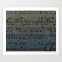 Music Sheet Art Print