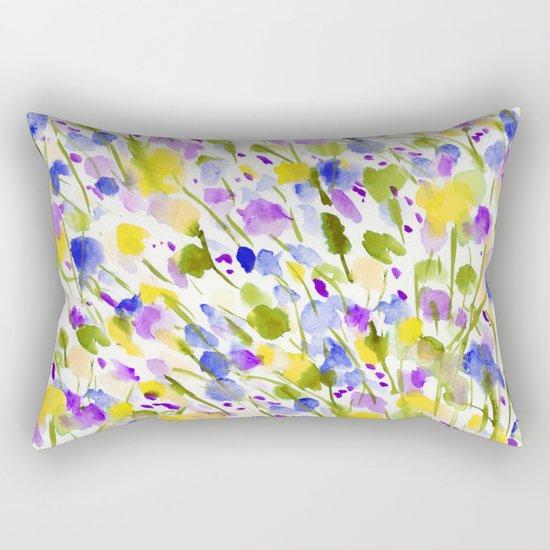 Wild Nature (Yellow and Blue) Rectangular Pillow