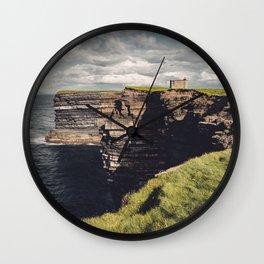 Irish Sea Cliffs Wall Clock