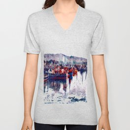 Irish Sea Unisex V-Neck