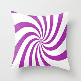 Spiral (Purple & White Pattern) Throw Pillow