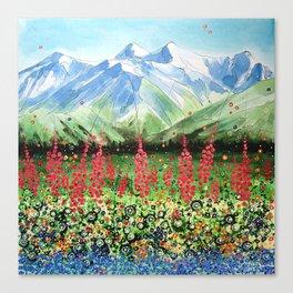 Glacier Valley Canvas Print
