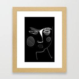 Negative Portraits, 2. Framed Art Print