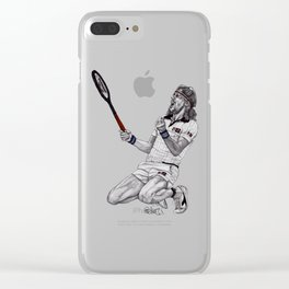 Tennis Borg Clear iPhone Case